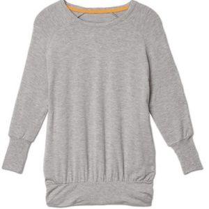 Athleta Peaceful Pullover Sweater Heather Gray